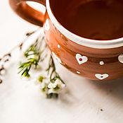 Посуда handmade. Livemaster - original item Pottery mug with hearts.. ceramic handmade.. Handmade.