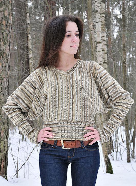 Кофты и свитера ручной работы. Ярмарка Мастеров - ручная работа. Купить Кофта с широкими рукавами. Handmade. Пуловер, свитер вязаный