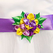 Аксессуары handmade. Livemaster - original item Satin waistband anyutka. Handmade.