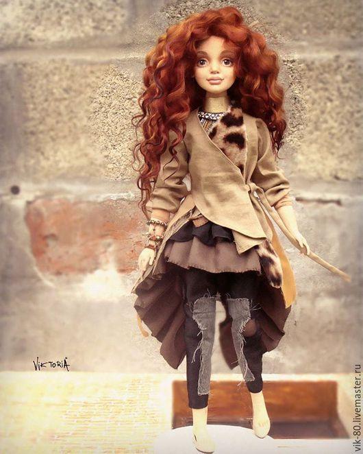 Коллекционные куклы ручной работы. Ярмарка Мастеров - ручная работа. Купить Келли. Handmade. Рыжий, кукла текстильная, рукоделие