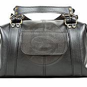 Сумки и аксессуары handmade. Livemaster - original item Womens leather handbag Eiffel tower, black. Handmade.
