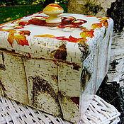 Для дома и интерьера handmade. Livemaster - original item Box with oversized mushrooms! Boletus). Handmade.