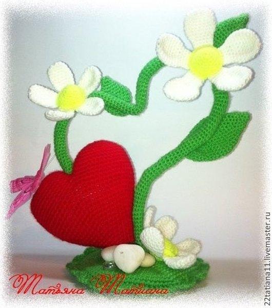 """Подарки для влюбленных ручной работы. Ярмарка Мастеров - ручная работа. Купить Мастер класс """" Сердечный цветочек """". Handmade."""