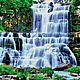 """Вышивка ручной работы. Ярмарка Мастеров - ручная работа. Купить Набор для вышивания бисером """" Водопад в лесу"""". Handmade. Водопад"""