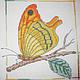 Животные ручной работы. Ярмарка Мастеров - ручная работа. Купить Золотой полдень. Handmade. Оранжевый, Вышивка крестом, вышивка крестиком
