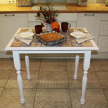Мебель ручной работы. Ярмарка Мастеров - ручная работа Стол со столешницей из плитки. Handmade.