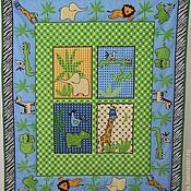 """Для дома и интерьера ручной работы. Ярмарка Мастеров - ручная работа Детский плед-покрывало-одеяло """"Бэби-сафари"""". Handmade."""
