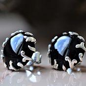 Украшения handmade. Livemaster - original item Earrings-ear-stud with Morion. Handmade.