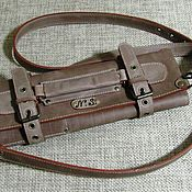 Сумки и аксессуары handmade. Livemaster - original item CASE: Twisting leather for throwing knives walnut. Handmade.