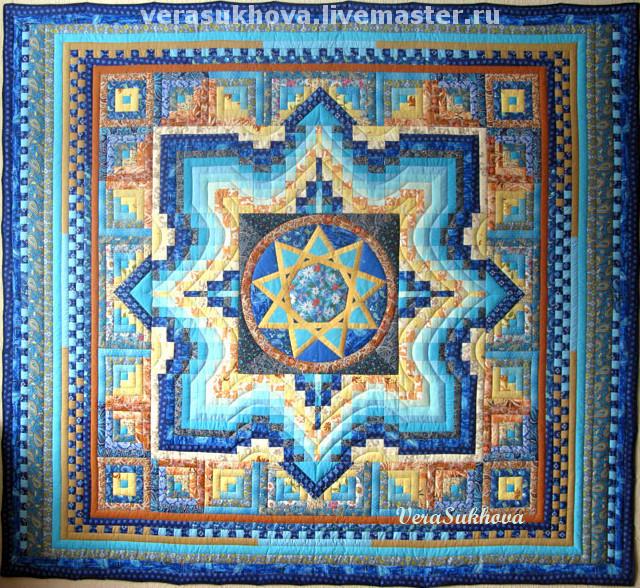 ...Patchwork quilt 'Star Ingle', Blanket, Ivanovo,  Фото №1