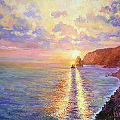 Картины и панно handmade. Livemaster - original item Pictures: Oil painting, sea landscape