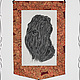 """Животные ручной работы. Ярмарка Мастеров - ручная работа. Купить Панно/ Батик - """"Черный терьер"""". Handmade. Черный, Батик, портрет"""