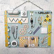 Бизиборды ручной работы. Ярмарка Мастеров - ручная работа Бизиборд - панель 50#40 см. Handmade.