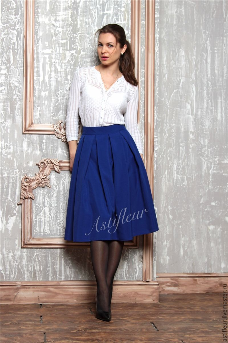 Пышные офисные юбки