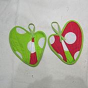 Для дома и интерьера ручной работы. Ярмарка Мастеров - ручная работа Прихватки сердечные. Handmade.