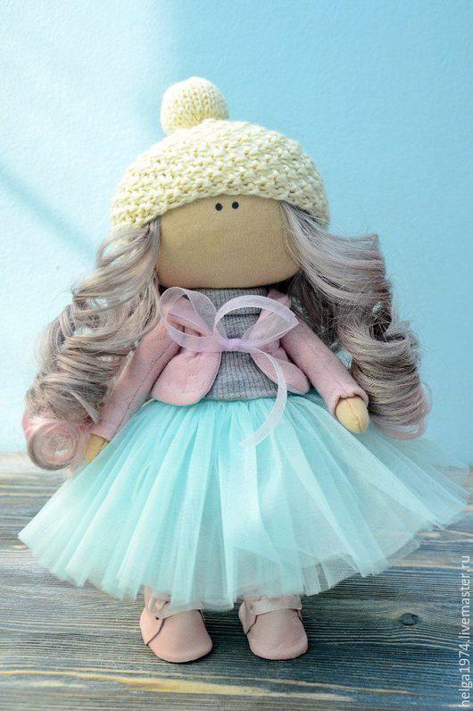 Человечки ручной работы. Ярмарка Мастеров - ручная работа. Купить кукла интерьерная. Handmade. Бирюзовый, куколка малышка, текстиль, синтепон