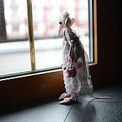 """Куклы и игрушки ручной работы. Ярмарка Мастеров - ручная работа Крыса Игрушка Серия """"Мамзели"""" Мамзель в розовом 2. Handmade."""