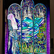 Картины и панно handmade. Livemaster - original item Painting with light/ stained glass painting/ stained glass window to Meet the new day. Handmade.