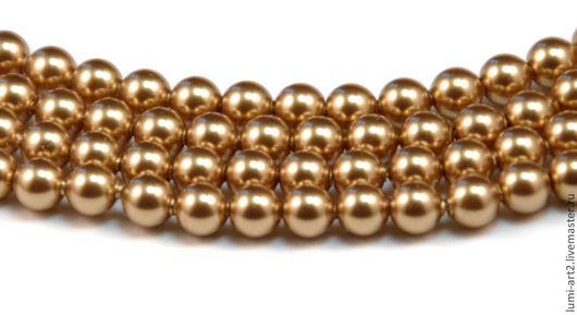 Для украшений ручной работы. Ярмарка Мастеров - ручная работа. Купить 4мм Bright Gold Жемчуг Сваровски 306 Swarovski Perl 30 шт. Handmade.