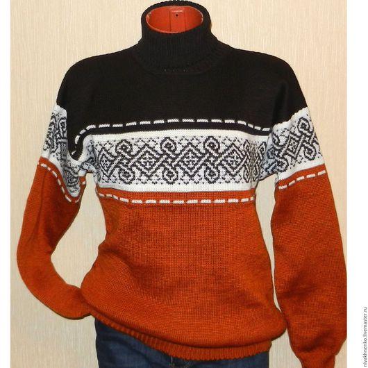Для мужчин, ручной работы. Ярмарка Мастеров - ручная работа. Купить Вязаный свитер  Винтаж с  кельтским обереговым орнаментом. Handmade.