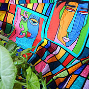 Для дома и интерьера ручной работы. Ярмарка Мастеров - ручная работа лоскутное покрывало  ОН  И  ОНА. Handmade.
