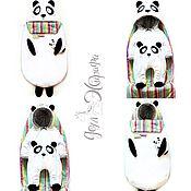 """Работы для детей, ручной работы. Ярмарка Мастеров - ручная работа Комплект на выписку  и для прогулок """"Панда"""". Handmade."""