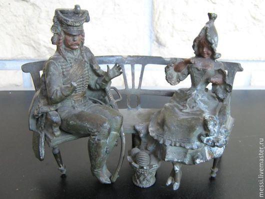 Винтажные предметы интерьера. Ярмарка Мастеров - ручная работа. Купить Для реставраторов Скульптура гусара с барышней, 1890 год. Handmade.
