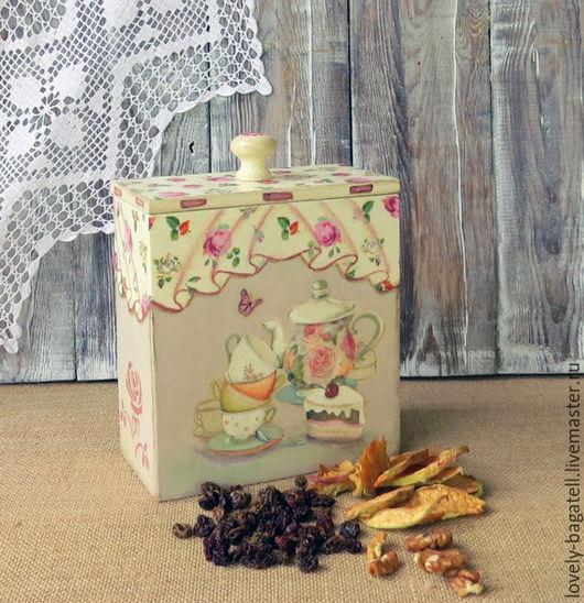 """Кухня ручной работы. Ярмарка Мастеров - ручная работа. Купить Короб для кухни """"Чайные розы"""". Handmade. Комбинированный, для кухни"""