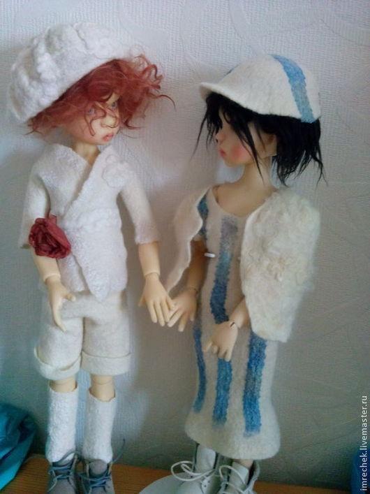 """Одежда для кукол ручной работы. Ярмарка Мастеров - ручная работа. Купить комплект  одежды """"Крылья ангела"""" для кукол МСД. Handmade."""