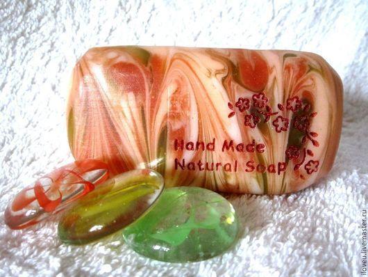 """Мыло ручной работы. Ярмарка Мастеров - ручная работа. Купить Мыло ручной работы """"Персиковая ветвь"""", подарки на 8 марта, подарок. Handmade."""