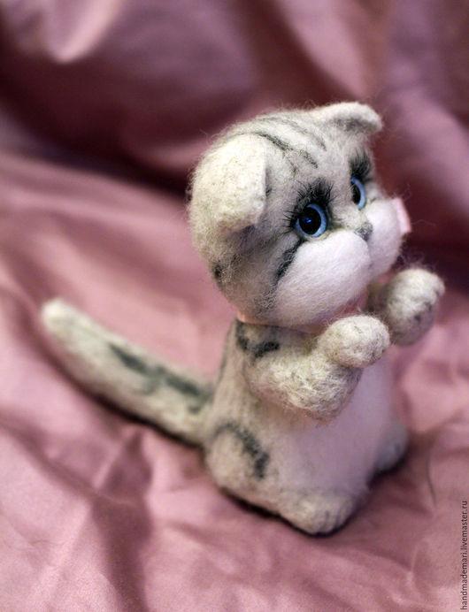 Игрушки животные, ручной работы. Ярмарка Мастеров - ручная работа. Купить Шотландский вислоухий котёнок. Handmade. Британский кот