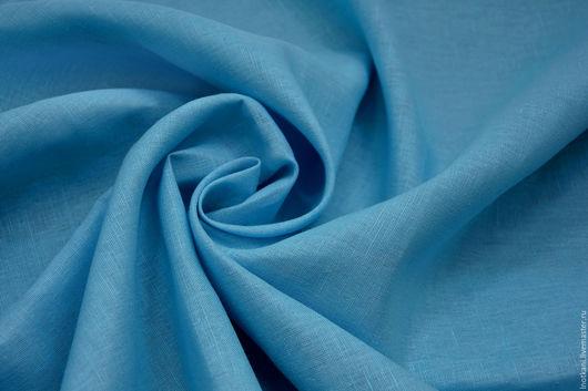Шитье ручной работы. Ярмарка Мастеров - ручная работа. Купить Ткань льняная голубая арт.00654А. Handmade. Лён натуральный