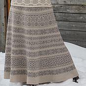 Одежда ручной работы. Ярмарка Мастеров - ручная работа юбка вязаная жаккардовая. Handmade.