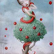 """Картины и панно ручной работы. Ярмарка Мастеров - ручная работа Картина маслом на холсте """"Алиса"""" 30/50см. Handmade."""