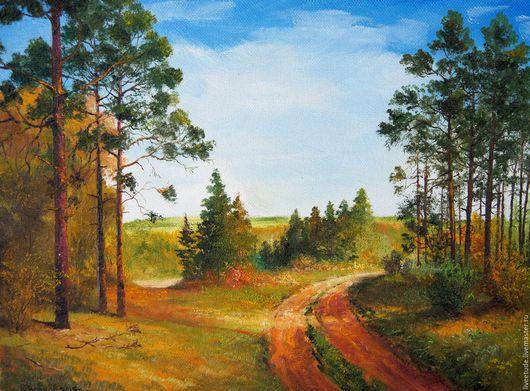 Осенний пейзаж,фото передает свежесть цвета почти как в реалии. Авторская работа ,выполнена маслом на холсте.