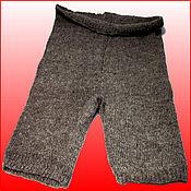 Одежда handmade. Livemaster - original item Warm woolen knitted gray shorts 2-3XL. Handmade.