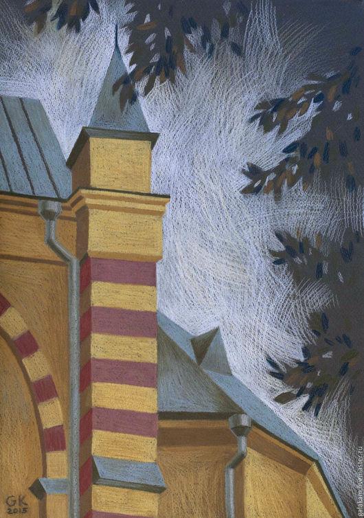 Город ручной работы. Ярмарка Мастеров - ручная работа. Купить Собор святых Петра и Павла. Handmade. Графика, пастель, бумага