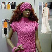 """Одежда ручной работы. Ярмарка Мастеров - ручная работа Жилет с подиума """"Pink Aran"""" (""""Romantic collage"""")  дизайнер Darek Lam. Handmade."""