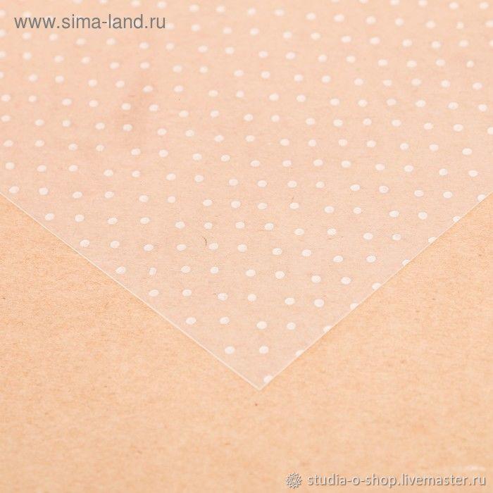 """Ацетатный лист """"Горошек"""" 20x20, Бумага, Челябинск,  Фото №1"""