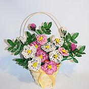Цветы и флористика ручной работы. Ярмарка Мастеров - ручная работа Шиповник из бисера. Handmade.
