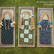 """Канцелярские товары ручной работы. Ярмарка Мастеров - ручная работа Закладки для книг """"Спящие ангелочки в кроватках"""" (набор из 3 шт). Handmade."""