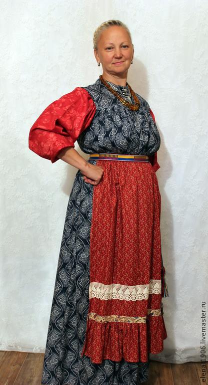 Одежда ручной работы. Ярмарка Мастеров - ручная работа. Купить Костюм с сарафаном Горбач. Handmade. Лоскутный дом, рубашка женская