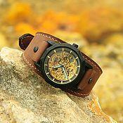 Украшения handmade. Livemaster - original item Mechanical wrist watch Granat Brown. Handmade.