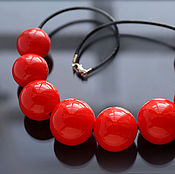 "Necklace handmade. Livemaster - original item Колье ""Кармен"" выдувное стекло. Handmade."
