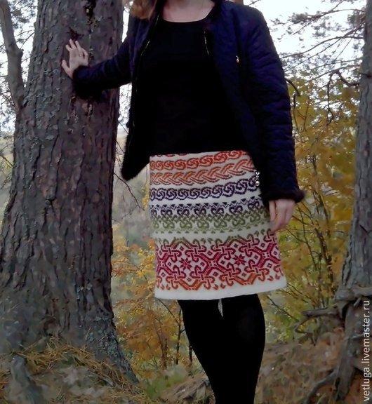 Юбки ручной работы. Ярмарка Мастеров - ручная работа. Купить Шерстяная юбка Фестиваль. Handmade. Орнамент, шерстяная юбка