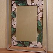 Для дома и интерьера ручной работы. Ярмарка Мастеров - ручная работа зеркало витражное в технике Тиффани с просветами. Handmade.