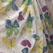 Для дома и интерьера handmade. Livemaster - original item Tulle with weighting linen butterfly print. Handmade.