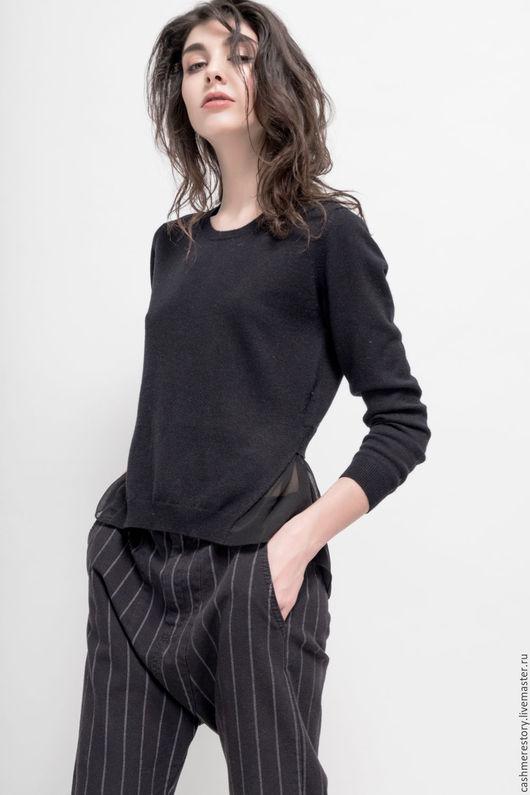 Кофты и свитера ручной работы. Ярмарка Мастеров - ручная работа. Купить Кашемировый пуловер вязаный Intro. Handmade. Пуловер