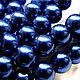 Для украшений ручной работы. Ярмарка Мастеров - ручная работа. Купить Жемчуг стеклянный 10 мм  темно-синий (19701). Handmade.