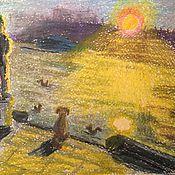 Картины и панно ручной работы. Ярмарка Мастеров - ручная работа Нескучный сад.Закат.. Handmade.